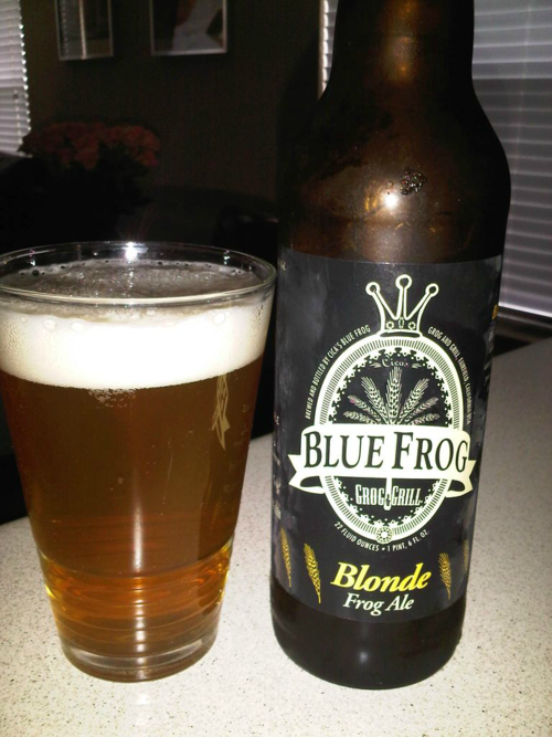Blue Frog Blonde Frog Ale